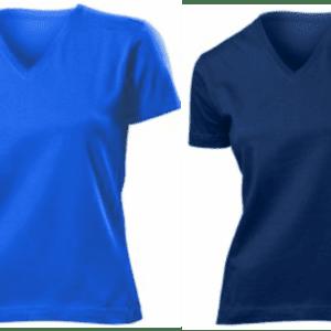 KOSZULKI T-SHIRT V-neck DAMSKIE Z NADRUKIEM