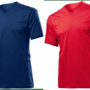 KOSZULKI T-SHIRT V-neck MĘSKIE Z NADRUKIEM